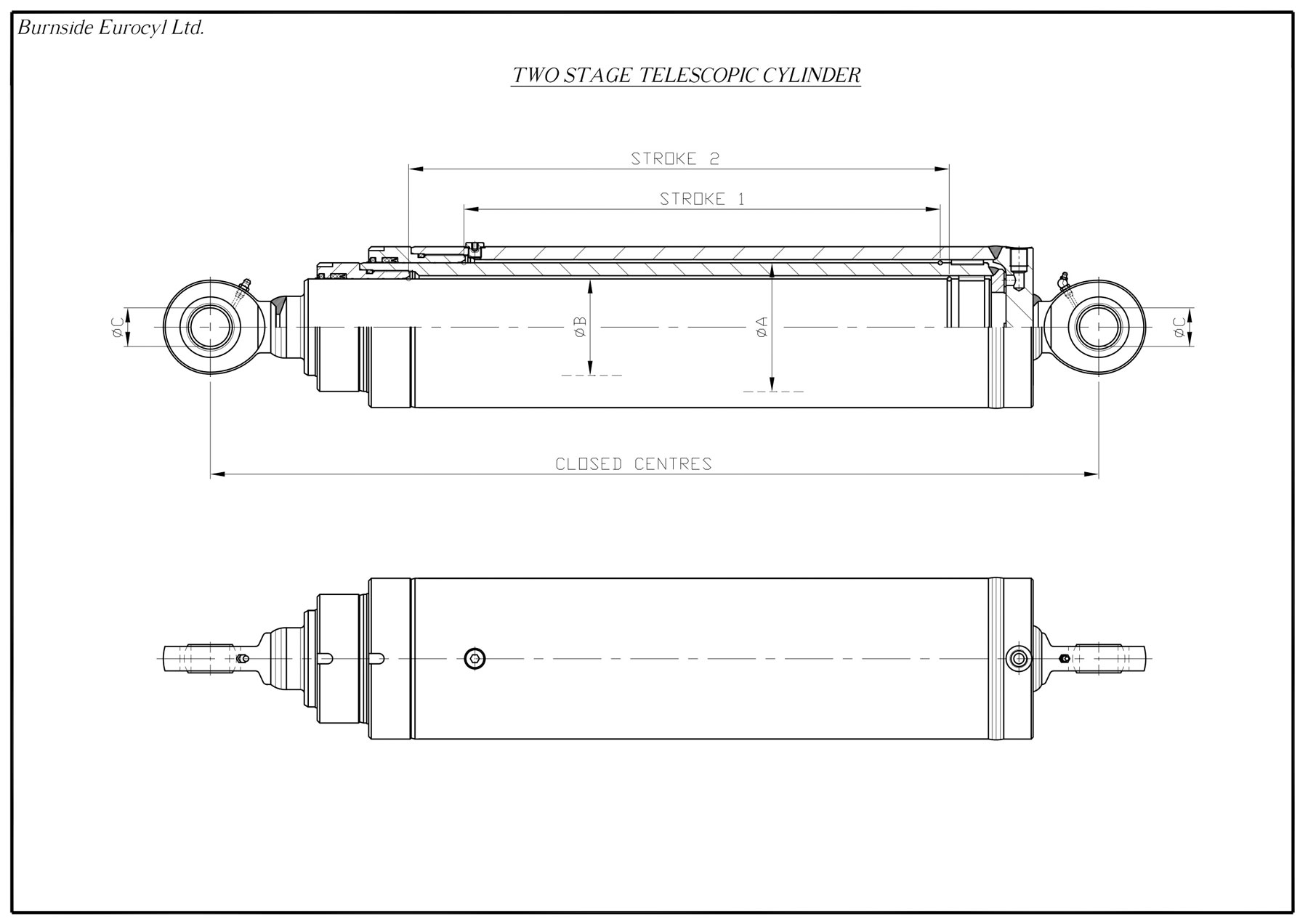 Telescopic on Single Acting Cylinder Diagram